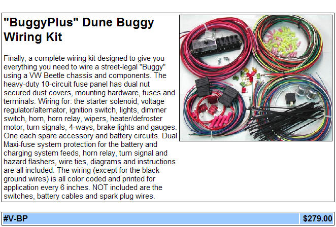 Vw bug wiring harness kit get free image about