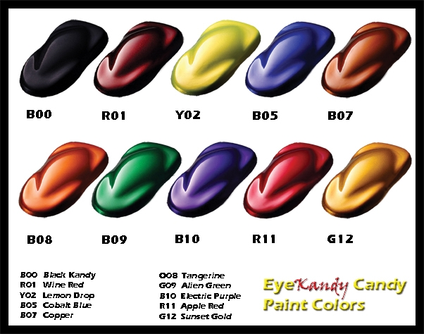 Car Paint Color Samples Prepped for paint and then